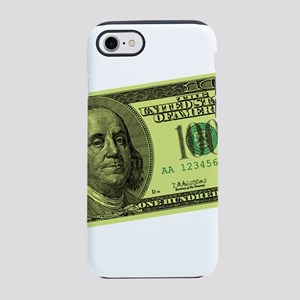 100 Dollar Bill Closeup Graphic iPhone 7 Tough Cas