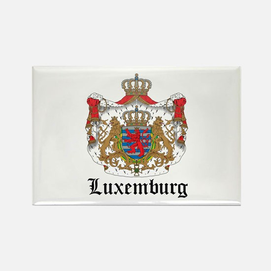 Luxembourger Coat of Arms Sea Rectangle Magnet
