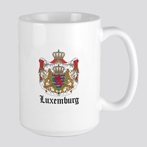 Luxembourger Coat of Arms Sea Large Mug
