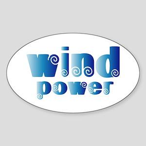 Wind Power Oval Sticker