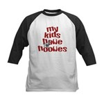 My Kids have Hooves Kids Baseball Jersey
