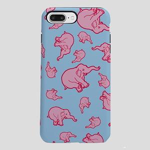 Pink Elephants Pattern iPhone 7 Plus Tough Case