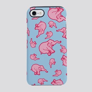 Pink Elephants Pattern iPhone 7 Tough Case
