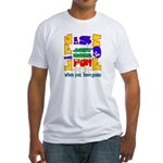 Life is Fun with Goats Fitted T-Shirt