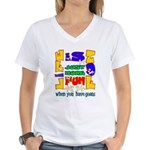 Life is Fun with Goats Women's V-Neck T-Shirt