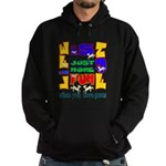 Life is Fun with Goats Hoodie (dark)