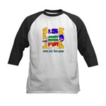 Life is Fun with Goats Kids Baseball Jersey