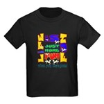 Life is Fun with Goats Kids Dark T-Shirt