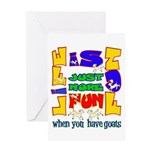 Life is Fun with Goats Greeting Card