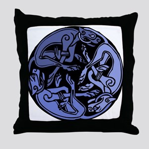 Celtic Chasing Hounds 1b Throw Pillow