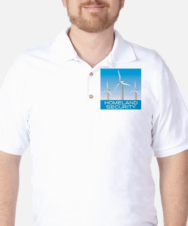 Wind Power America Golf Shirt