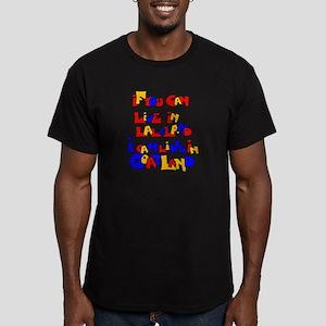 LaLaLand-GoatLand Men's Fitted T-Shirt (dark)