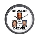 Axis of Drivel Wall Clock