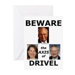 Axis of Drivel Greeting Cards (Pk of 10)