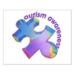 Pastel Autism Puzzle Small Poster