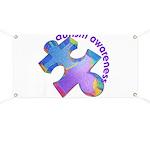 Pastel Autism Puzzle Banner