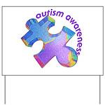 Pastel Autism Puzzle Yard Sign