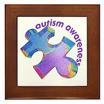 Pastel Autism Puzzle Framed Tile