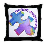 Pastel Autism Puzzle Throw Pillow