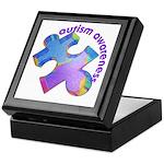 Pastel Autism Puzzle Keepsake Box