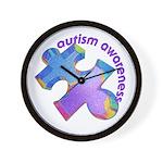 Pastel Autism Puzzle Wall Clock
