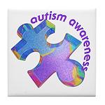 Pastel Autism Puzzle Tile Coaster