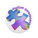 """Pastel Autism Puzzle 3.5"""" Button (100 pack)"""