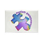 Pastel Autism Puzzle Rectangle Magnet (10 pack)