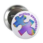 """Pastel Autism Puzzle 2.25"""" Button (10 pack)"""