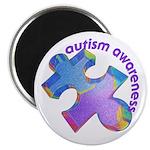 Pastel Autism Puzzle Magnet