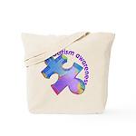 Pastel Autism Puzzle Tote Bag