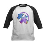 Pastel Autism Puzzle Kids Baseball Jersey