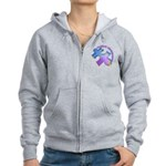Pastel Autism Puzzle Women's Zip Hoodie