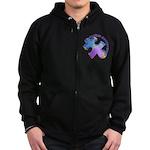 Pastel Autism Puzzle Zip Hoodie (dark)