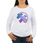 Pastel Autism Puzzle Women's Long Sleeve T-Shirt
