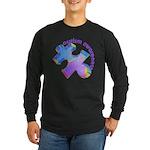 Pastel Autism Puzzle Long Sleeve Dark T-Shirt