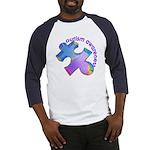 Pastel Autism Puzzle Baseball Jersey