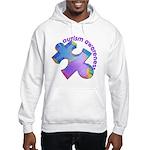 Pastel Autism Puzzle Hooded Sweatshirt