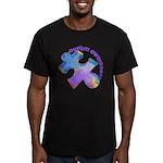 Pastel Autism Puzzle Men's Fitted T-Shirt (dark)