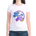 Pastel Autism Puzzle Jr. Ringer T-Shirt