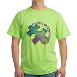 Pastel Autism Puzzle Green T-Shirt