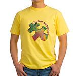 Pastel Autism Puzzle Yellow T-Shirt