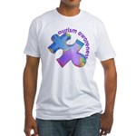 Pastel Autism Puzzle Fitted T-Shirt