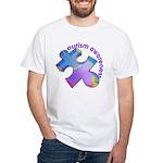 Pastel Autism Puzzle White T-Shirt
