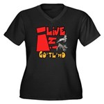 GoatLand Women's Plus Size V-Neck Dark T-Shirt