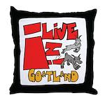 GoatLand Throw Pillow