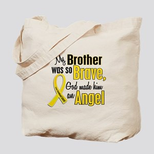 Angel 1 BROTHER Child Cancer Tote Bag