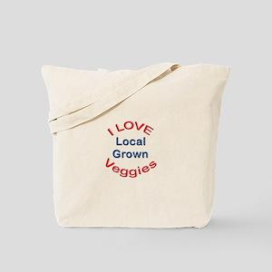 I Love Local Veggies Tote Bag