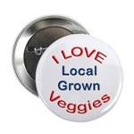 "I Love Local Veggies 2.25"" Button (10 pack)"