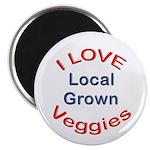 "I Love Local Veggies 2.25"" Magnet (10 pack)"